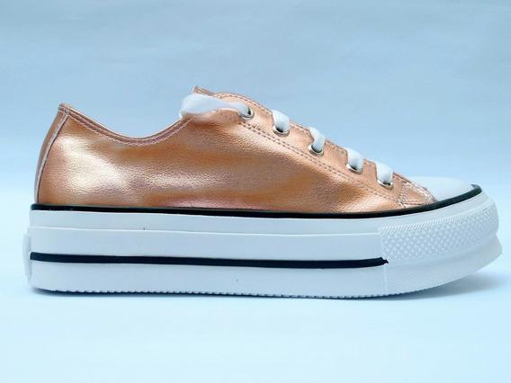 Zapatilla Alta De Mujer Sneakers Lucy Plataforma