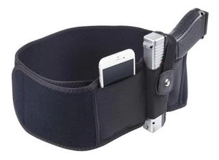 Faja Funda Porta Armas Discreta Negra Con Clip Ambidiestro