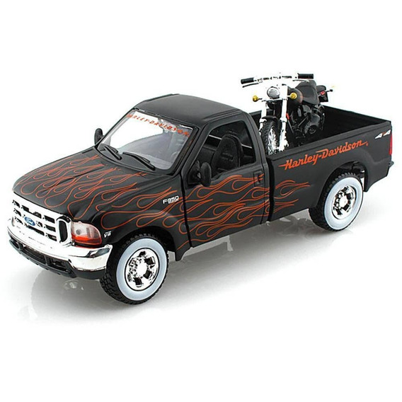 Ford F-350 Super Duty Maisto 1:24 Harley Davidson Motorcycle