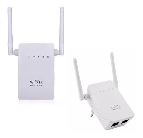 Wifi Repetidor Extensor Wireless 2 Antenas 300mbps + Rápido