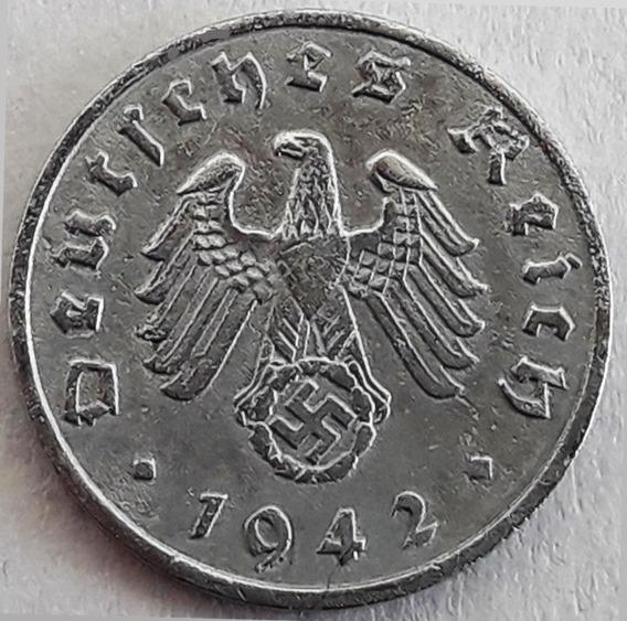 Alemania Nazi Moneda De 1 Pfennig Del Año 1942 Excelente
