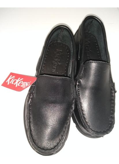 Zapatos/mocasines Colegiales De Cuero Kickers Talle 28