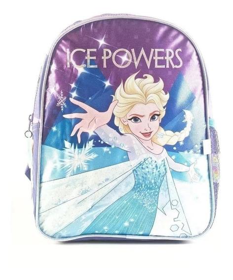 Mochila Frozen Ice Powers 12 Pulgadas Violeta Orignial Wabro