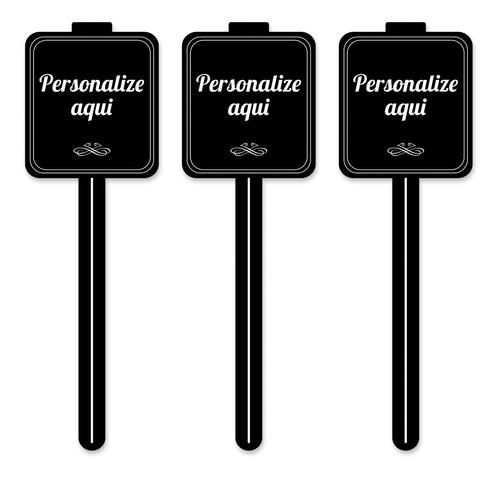 Imagem 1 de 5 de Kit 30 Placas Identificador Doces Padaria Personalizado