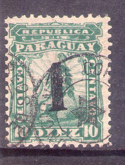 Paraguay Estampilla 1881. León Sobrecargado. Oferta.