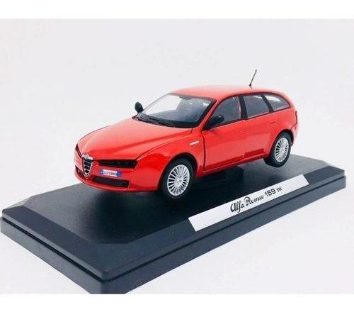 Miniatura Alfa Romeo 159 Sw Vermelho 1:24 Motor Max 73372