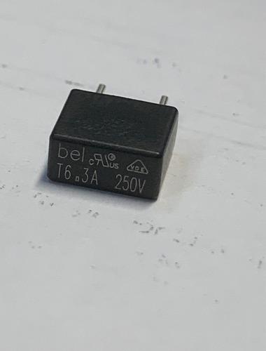 Fusivel T6,3a 250v Quadrado Especial