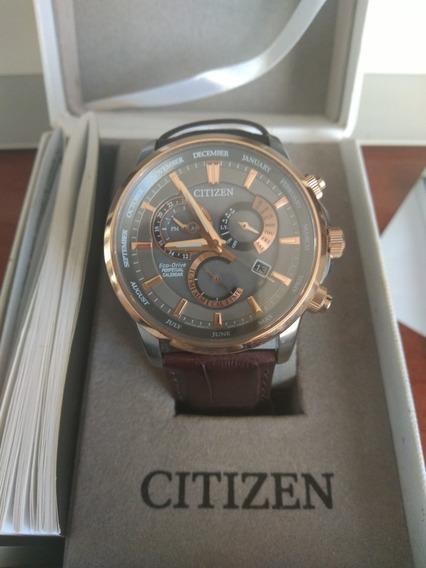 Relógio Masculino Citizen Eco-drive Tz20868c Pulseira Couro