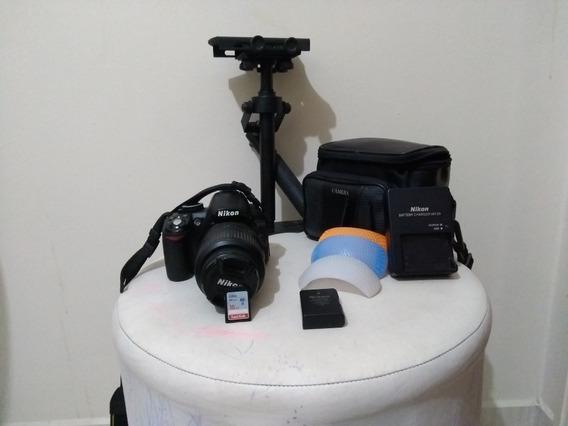 Câmera Nikon D 3100, Lente 18/55mm