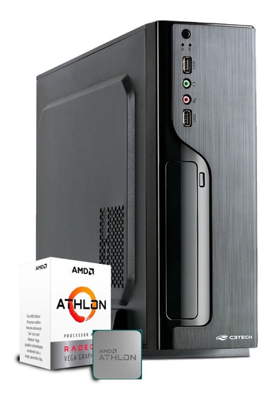 Computador Business Athlon 200ge / Ssd 240gb / Gabinete Slim