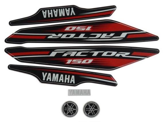 Faixas / Kit Adesivos Yamaha Factor 150 2017 Vermelha