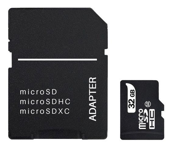 Cartao De Memoria 32gb Micro Sd Com Adaptador Sd Classe 10