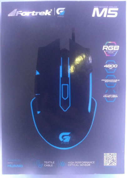 Mouse Gamer Fortrek M5 Rgb 4800dpi Original + Nf
