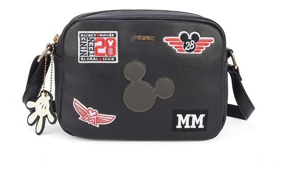 Bolsa Mickey Edição 90 Anos Transv. Chaveiro Luvinha 78397