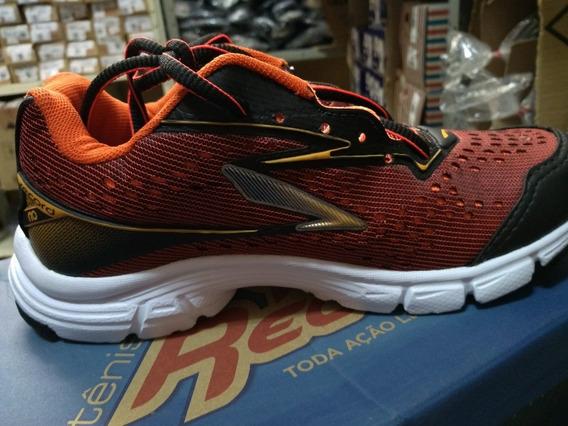 Tênis Record Jogging E.v.a 8252 - Vermelho/laranja