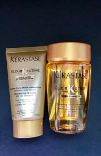 Kit Kerastase Shampoo E Leave-in Elixir Ultime Mini Viagem