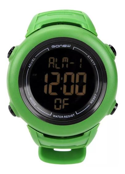 Relógio Para Corrida Gonew Energy 2 - Verde Militar - Novo