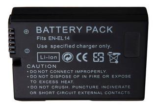 Batería P/ Nikon En-el14 D3100 D3200 D5100 100% Compatible