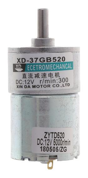 Xd -37gb520 Dc Motor 12v 10w 300 Rpm Engrenagem Motor Cw / C