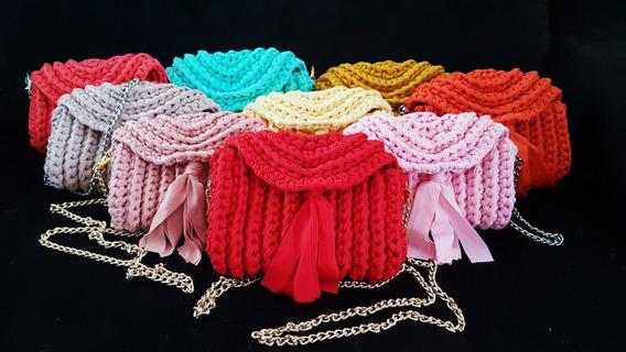 Bolsa De Crochê Clutch (frete Grátis)