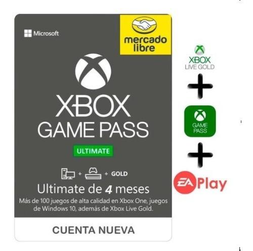 Imagen 1 de 1 de Xbox Game Pass Ultimate 4 Meses De Gold Y Gamepass No Codigo