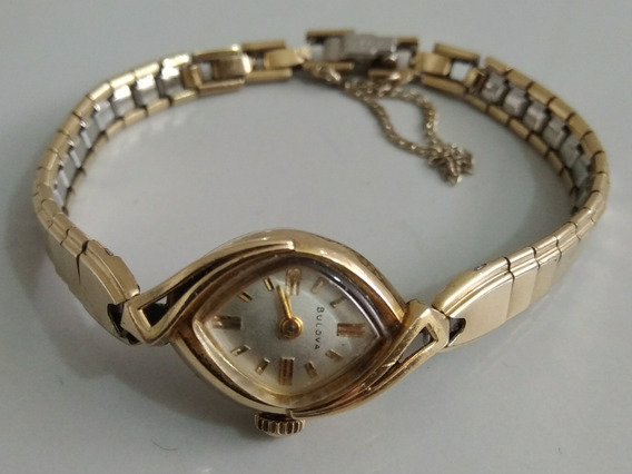 Reloj Vintage Antiguo De Oro Bulova Para Dama