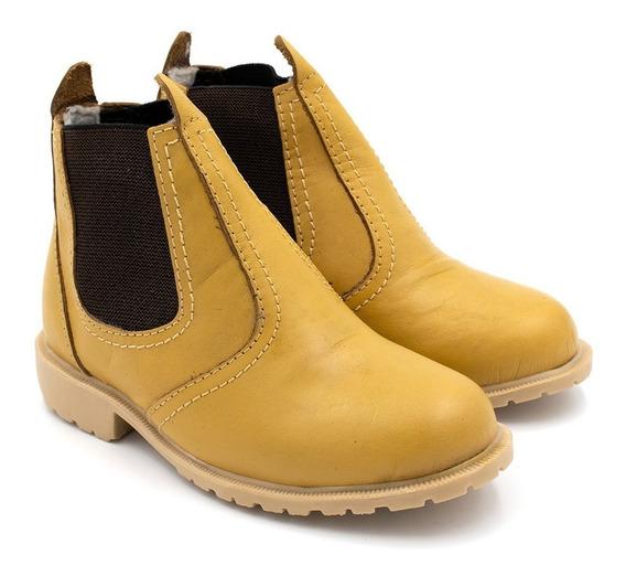 Bota Botina Jequinha Infantil Country Sapato Em Couro Junina