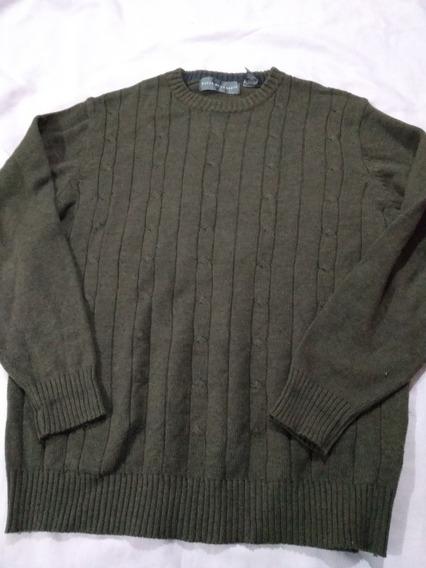 Sweater Oscar De La Renta Talla Xl Verde Militar (usado) Ck