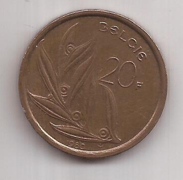 Belgica Moneda De 20 Francos Año 1980 !