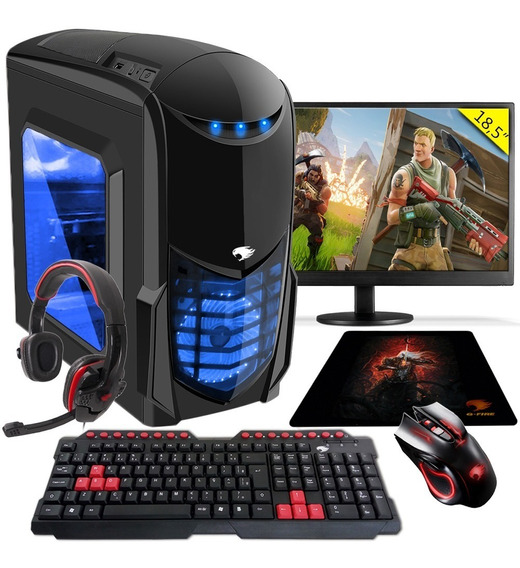 Pc Gamer G-fire A6 7400k 8gb Pv R5 2gb Integrada 1tb 18,5