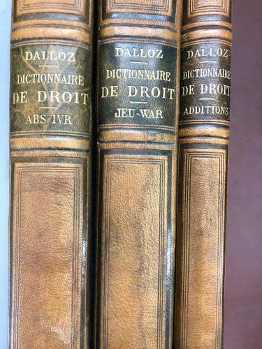 Dictionnaire De Droit 3t