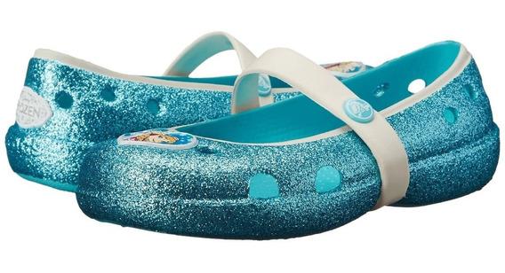 Crocs Frozen Originales Con Glitter