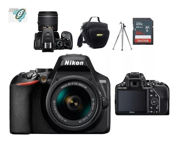 Nikon D3500 18-55mm Vr + Bolsa+tripé+64gb Nota Fiscal