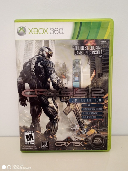 Crysis 2 Xbox 360 Midia Física Original P/entrega Impecável