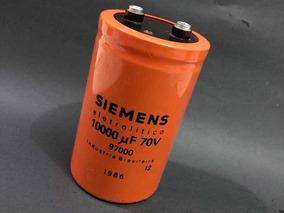 Capacitor 10.000uf 70v Kit C/02pcs P/ Fonte, Potencia De Som