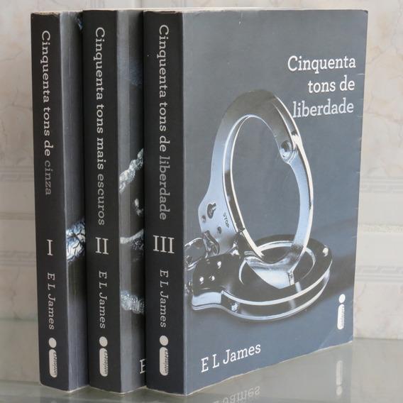 Trilogia Livros Cinquenta Tons De Cinza Escuros Liberdade