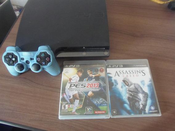 Playstation 3 (controle Original + 2 Jogos)