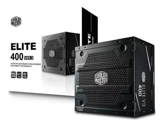Fonte Cooler Master 400w Elite V3 (mpw-4001-acaan1)