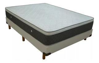 Somier Y Colchon Acuario 2 Plazas Pillow Fabrica