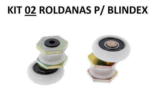 Imagem 1 de 1 de Kit 2 Roldana Rolamento Rodizio P/ Box De Vidro 8mm Blindex