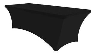 Mantel Elastico Cubre Mesa Para Eventos 1.82m Negro