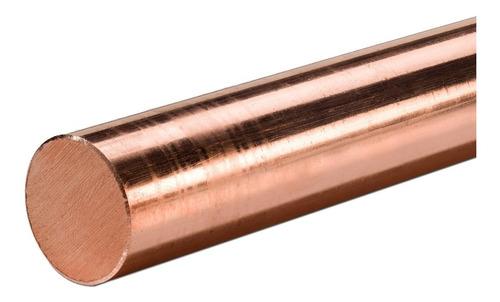 Imagem 1 de 2 de Barra De Cobre Puro 1/2'' (12,70 Mm) X 15 Cm Kit Com 2 Peças