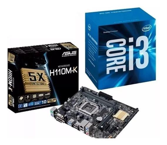 I3 7100 + Asus H110m-k + 8 Gb Memoria Ddr4 Ballistix