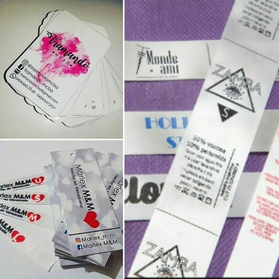 Etiquetas Personalizadas De Tela Para Ropa Carteras Peluches