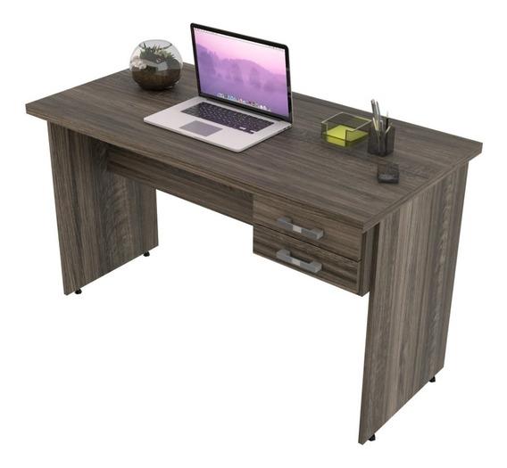 Escrivaninha Mesa De Escritório 1,20m Tampo 30mm C/02gavetas
