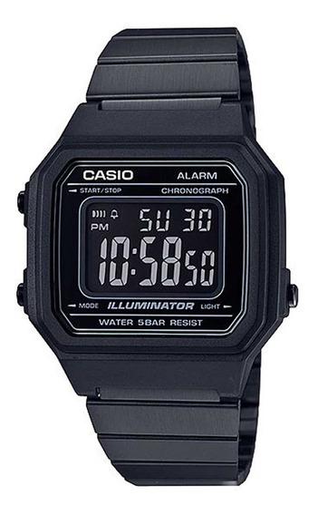 Relógio Casio Preto Vintage Retro B650wb 1bdf Frete Grtais