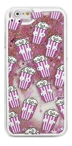 Icase - Carcasa Pop Corn Glitter Rosado - iPhone 5 / 5s / Se