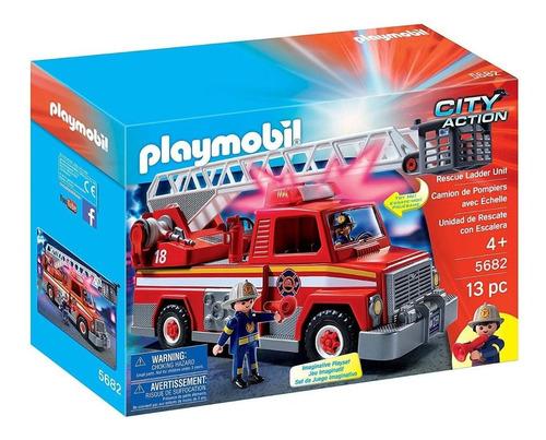 Playmobil 5682 City Unidad De Rescate De Bomberos