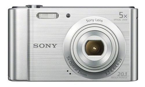 Câmera Sony Cyber-shot Dsc-w800 20.1 Mp Prata 12x S/juros