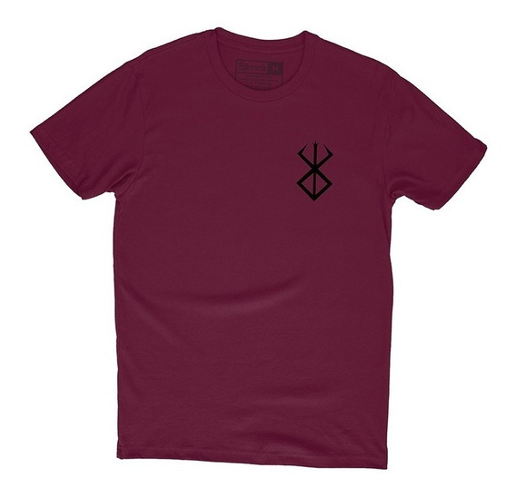 Camiseta Berserk Marca Do Sacrificio Bolso Camisa Animes